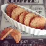 Biscotti integrali al tahin e arancia | Orange tahini cookies