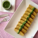 Polpettone di ceci e cavolfiore con salsa verde | Cauliflower chickpea loaf with Italian salsa verde