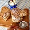 colomba cioccolato mandorle pistacchi vegan easter cake