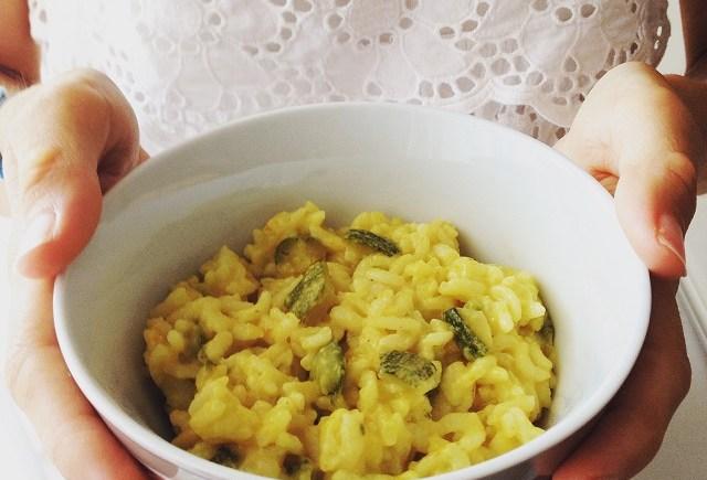 risotto zucchine curcuma vegan pentola a pressione zucchini pressure cooker