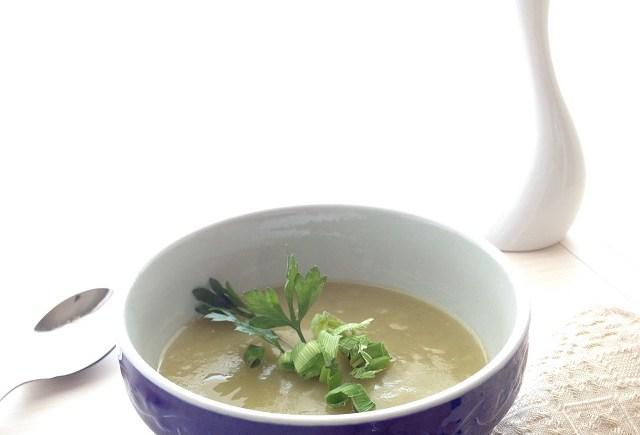 vellutata porri patate piselli spezzati vegan leek potato split peas soup