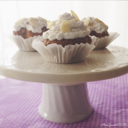 cupcakes vegan carote mandorle carrot almond coconut