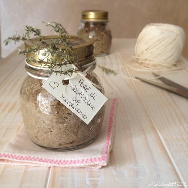 paté lenticchie radicchio vegan lentil spread