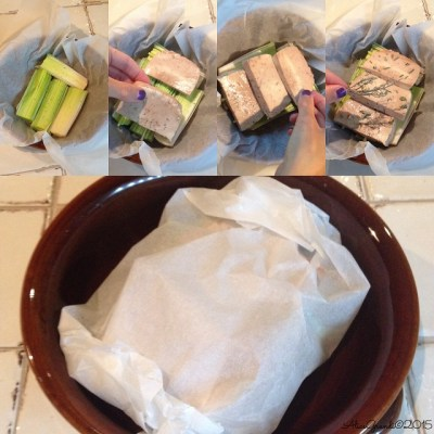 tofu cartoccio porri melagrana