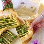 Torta salata di ricotta, curcuma e asparagi | Easy asparagus quiche