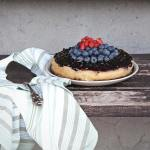 Cheesecake vegan (cotta) con yogurt e frutti di bosco | Healthy baked cheesecake