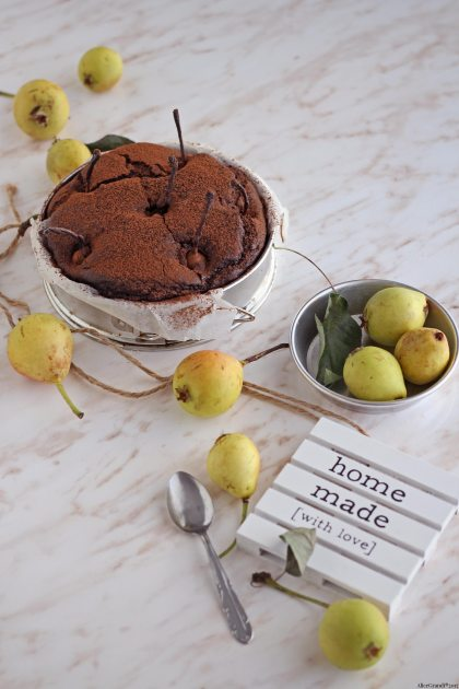 torta-vegan-pere-cioccolato-chocolate-pear-cake