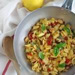 Pasta con zucchine, pomodorini e limone | Fresh tomato, zucchini & lemon pasta