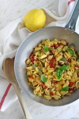 pasta-zucchine-pomodorini-limone-vegan-glutenfree