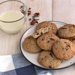 Biscotti proteici al cioccolato e noci | Healthy chocolate chip pecan cookies