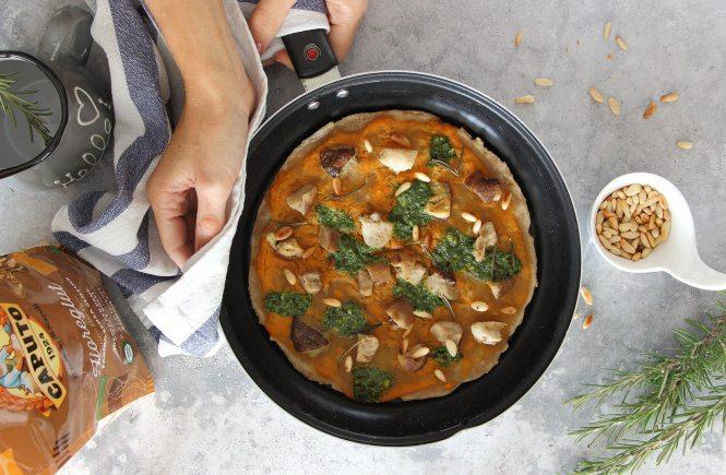 pizza-in-padella-senza-glutine-zucca-funghi