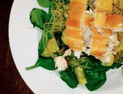 Filetto di trota agli spinaci