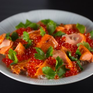 Japanese salted Salmon rice bowl