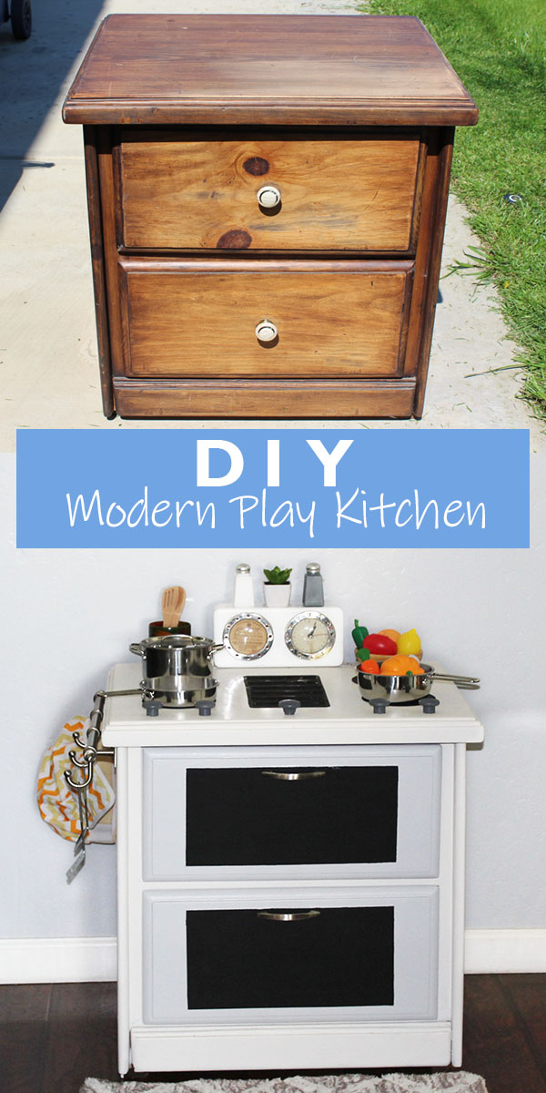 DIY Modern Play Kitchen