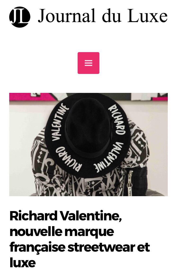 Presse Richard Valentine PARIS