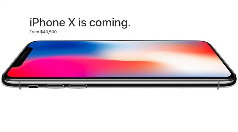 Official Prices and Release Date of iPhone X in Thailand