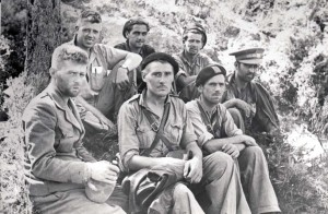 British officers at Hill 481 in July-August 1938