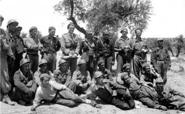 Surviving members of the British Battalion following the Battle of Jarama, February 1937