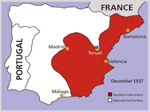 The battle of Teruel, December 1937 - January 1938