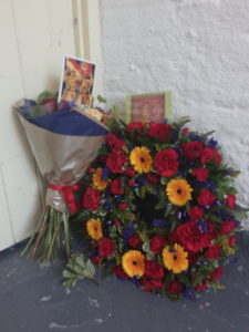 Flowers laid at at commemoration for Stain Hilton Newhaven on 29 October 2016