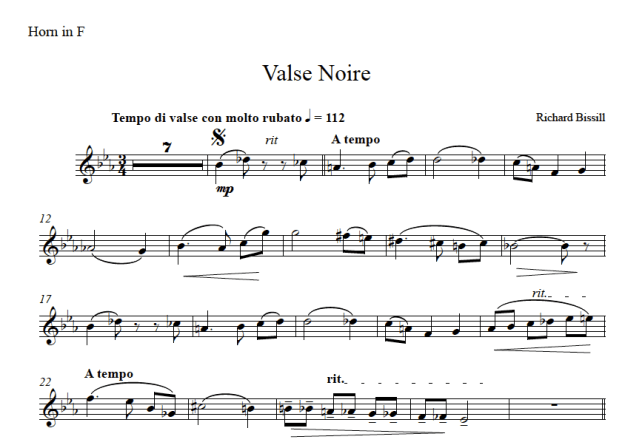 Valse Noire, for Horn and Piano