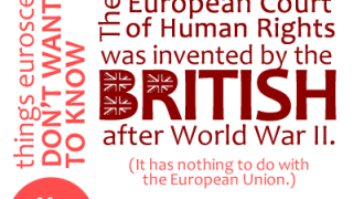 The European Court of Human RIghts was invented by the British after World War II.