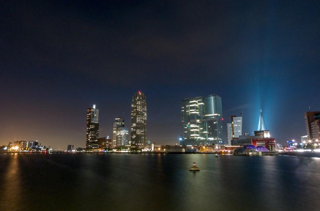 Avond foto's uit Rotterdam