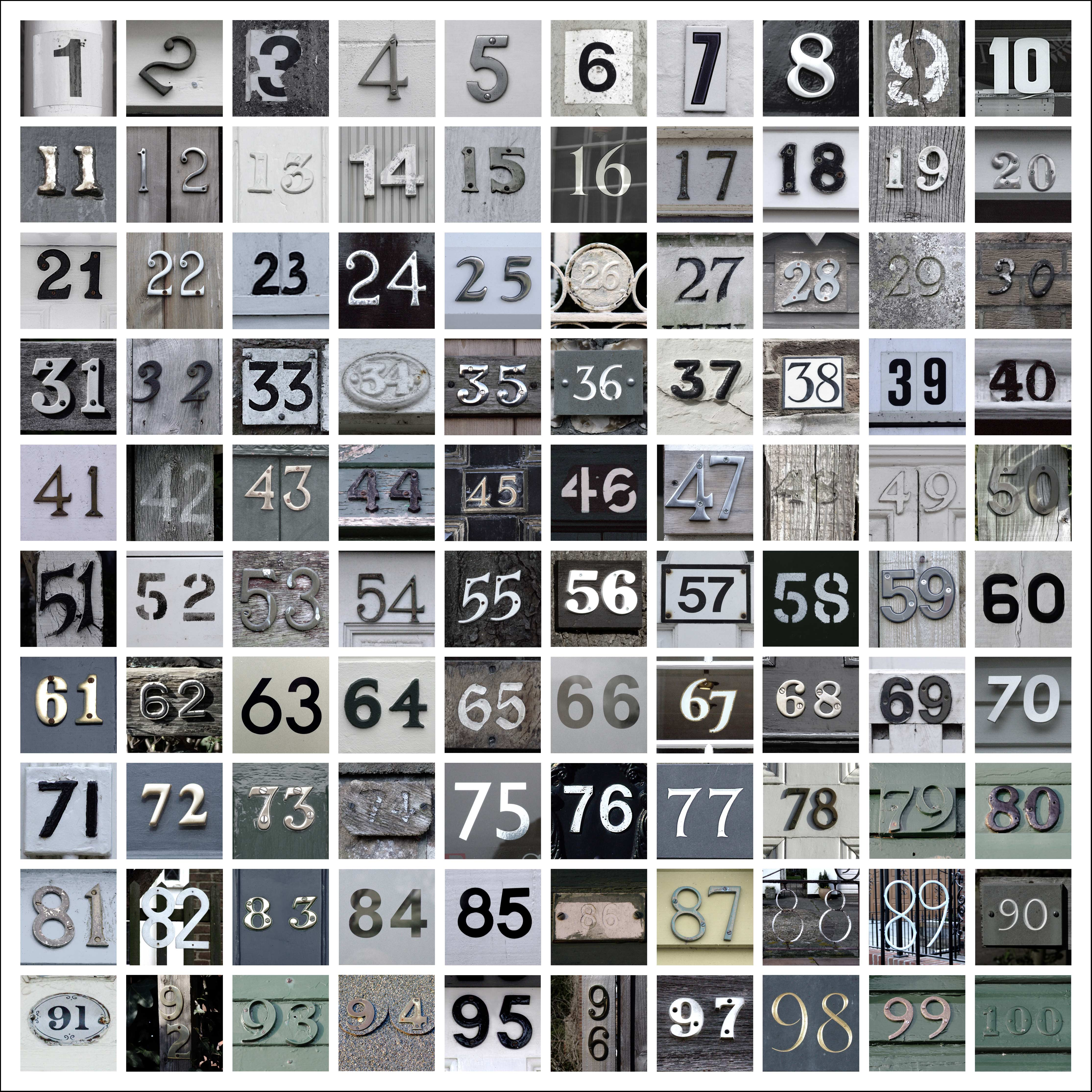 Number Square - Monochrome