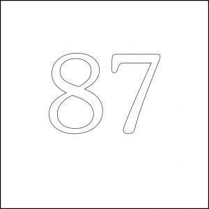 87 square 100