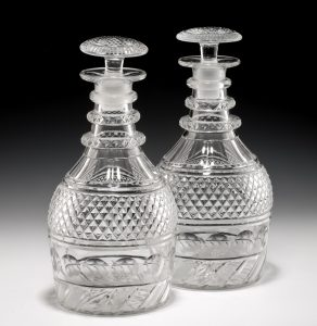 ANTIQUE GLASS DECANTERS AT RICHARD GARDNER ANTIQUES