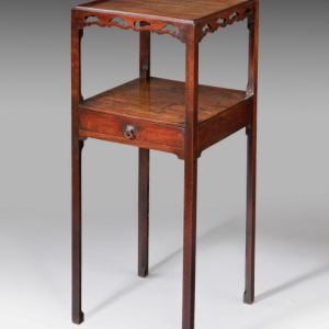 ANTIQUE MAHOGANY NIGHTSTAND BEDSIDE TABLE