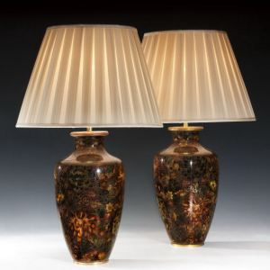 ANTIQUE PAIR OF CHINESE VASES CONVERTED TO LAMPS