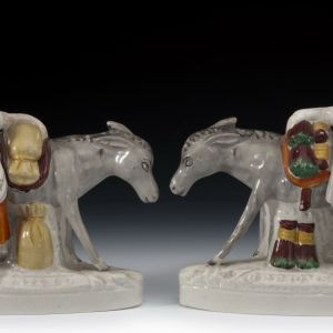 ANTIQUE STAFFORDSHIRE FIGURES BEESOMS & SAND