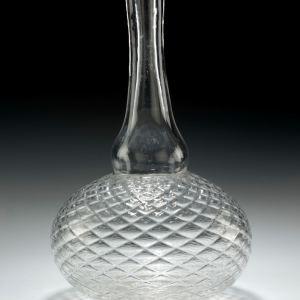 ANTIQUE GLASS MAGNUM DECANTER
