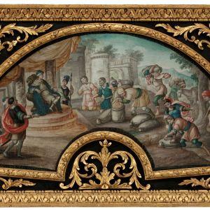 18TH CENTURY ITALIAN GOUACHE-JOSEPH & THE SILVER CUP
