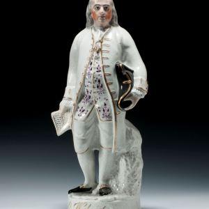ANTIQUE STAFFORDSHIRE FIGURE GENERAL WASHINGTON (FRANKLIN)