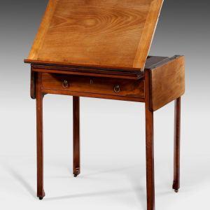 ANTIQUE GEORGE III MAHOGANY ARTISTS TABLE