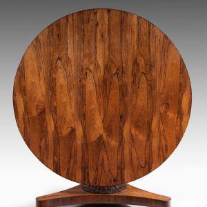 ANTIQUE WILLIAM IV ROSEWOOD CIRCULAR DINING TABLE
