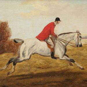 J.H.HERBERT-PAIR OIL PAINTINGS-HUNTING SCENES