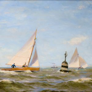 JOHN FRASER-OIL PAINTING-YACHT RACING