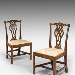 ANTIQUE PAIR OF GEORGE III MAHOGANY SIDE CHAIRS