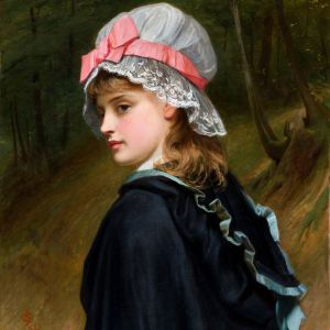 CHARLES SILLEM LIDDERDALE-OIL PAINTING-FARMERS DAUGHTER