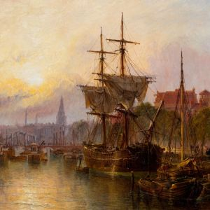 CLAUDE THOMAS STANFIELD MOORE-OIL PAINTING-AMSTERDAM