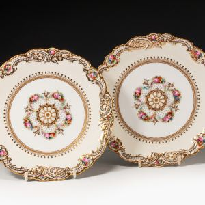 ANTIQUE PAIR COPELAND PLATES