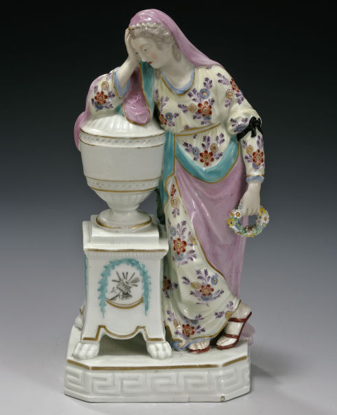 ANTIQUE DERBY PORCELAIN FIGURE OF ANDROMMACHIE