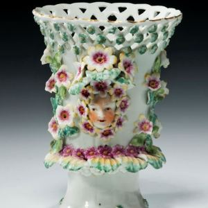 ANTIQUE DERBY FRILL VASE