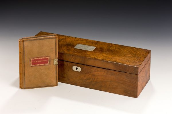 DRAWING INSTRUMENT BOX OF WILLIAM OLIVER EVELYN MEADE-KING
