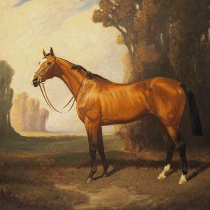 JAMES LYNWOOD PALMER-OIL PAINTING-RACEHORSE