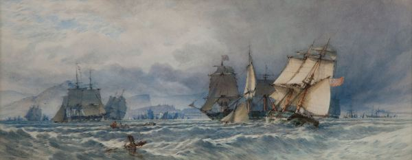 JOHN CALLOW WATERCOLOUR EDINBURGH FIRTH OF FORTH