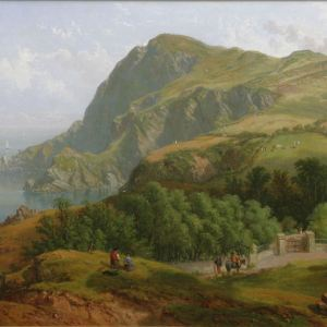 JOHN F TENNANT OIL PAINTING HILLSBOROUGH HEAD ILFRACOMBE DEVON